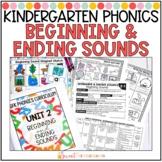 Kindergarten Phonics Beginning and Ending Sounds Unit