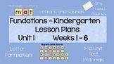 Kindergarten Phonics Daily Lesson Plans Unit 1, Weeks 1-6