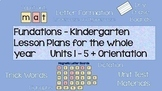 Kindergarten Phonics Daily Lesson Plans for THE WHOLE YEAR Bundle