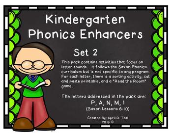 Kindergarten Phonics Enhancers Set 2