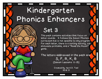 Kindergarten Phonics Enhancers Set 3