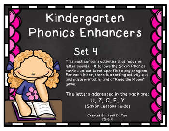 Kindergarten Phonics Enhancers Set 4