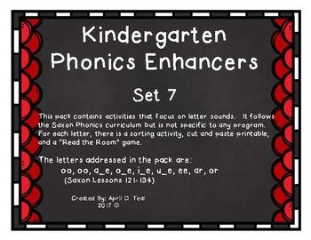 Kindergarten Phonics Enhancers Set 7