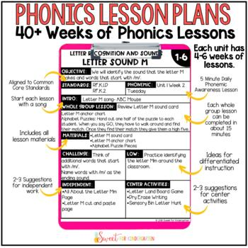 Kindergarten Phonics GROWING BUNDLE