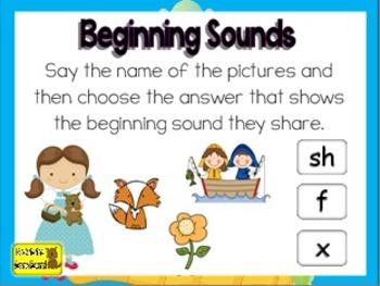 Kindergarten Phonics Game: Beginning Sounds, Digraphs, Ending Sounds and More!