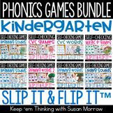 Kindergarten Phonics Games Bundle, Slip It and Flip It Sel