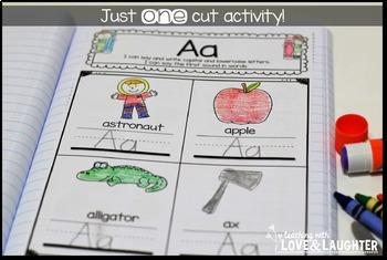 Kindergarten Phonics Interactive Notebook Activities...Alphabet Edition