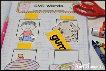 Kindergarten Phonics Interactive Notebook Activities...Word Families Edition