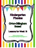 Kindergarten Phonics Lesson 13: S Family Blends