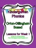 Kindergarten Phonics Lesson