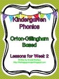 Kindergarten Phonics Lesson 2