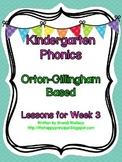 Kindergarten Phonics Lesson 3