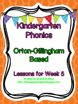 Kindergarten Phonics Lesson 5
