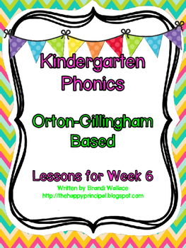 Kindergarten Phonics Lesson 6