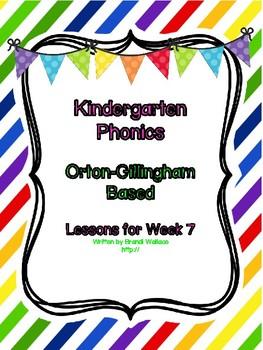 Kindergarten Phonics Lesson 7