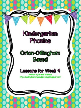 Kindergarten Phonics Lesson 9