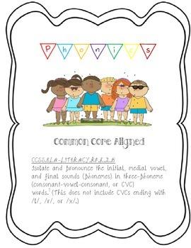 Kindergarten Phonics Lesson & Center Activity