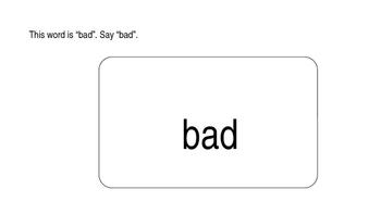 Kindergarten Phonics Lesson: Final Sound Substitutions Short a Words b-z Set