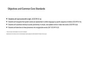 Kindergarten Phonics Lesson: Medial Sound Substitutions CVC Words b-z