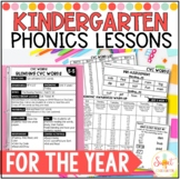 Kindergarten Phonics Lesson Plans for the Year