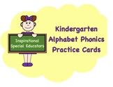 Kindergarten Phonics- Letter Recognition Practice Set
