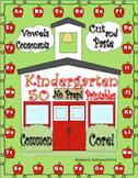 Phonics Kindergarten 50 Printables  No Prep!