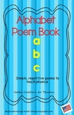 Kindergarten Phonics Poem Book