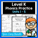Level K Phonics Practice Bundle Units 1 - 5