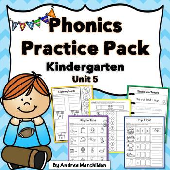 Kindergarten Phonics Practice Pack Unit 5
