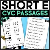 Kindergarten Phonics Reading Passages for CVC Words - Short E Word Family