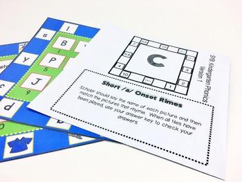 Phonics Review Games Kindergarten -- Squares Your Brain™ Hard Good
