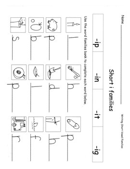 Kindergarten Phonics Short and Long Vowels Worksheets and Centers PACK 71 pg
