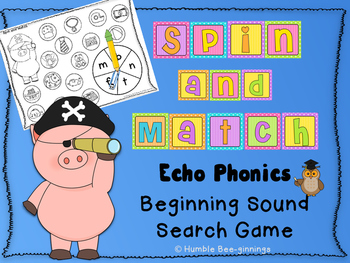 Kindergarten Phonics - Spin and Match for Unit 1