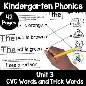 Kindergarten Phonics: Unit 3