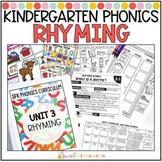Kindergarten Phonics Rhyming Words Unit