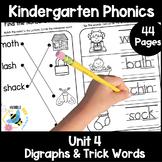 Kindergarten Phonics Printables: Unit 4