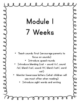 NO PREP Letter Sounds and Sight Words (7 Weeks of K)