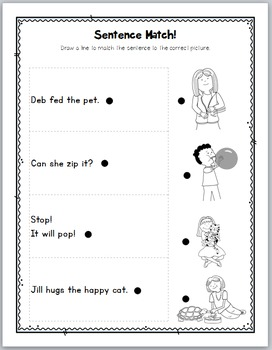 Kindergarten Phonics Worksheets Cvc And Preprimer Dolch Sight Words