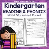 Kindergarten Phonics Worksheets: CVC and Pre-Primer Dolch Sight Words