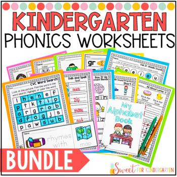 Kindergarten Phonics Worksheets Teachers Pay Teachers