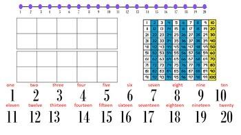 Kindergarten Phonics and Math Mat