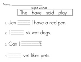 Kindergarten Phonics and Reading Comprehension Worksheets