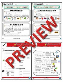 Kindergarten Phonics and Spelling D'Nealian Week 15 (Review Ă, N, F, B)