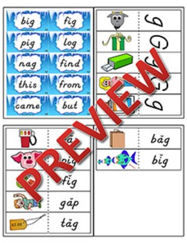 Kindergarten Phonics and Spelling D'Nealian Week 17 (G) {TEKS-aligned}