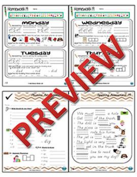Kindergarten Phonics and Spelling D'Nealian Week 19 (D) {TEKS-aligned}