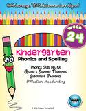 Kindergarten Phonics and Spelling D'Nealian Week 24 (H, K) {TEKS-aligned}