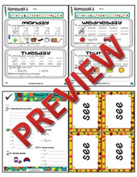 Kindergarten Phonics and Spelling D'Nealian Week 6 (Short Ăă) {TEKS-aligned}