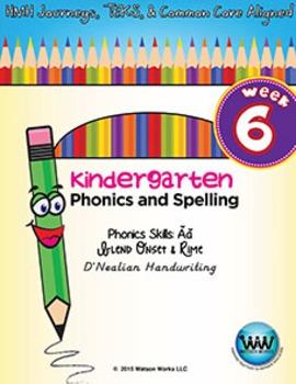 Kindergarten Phonics and Spelling D'Nealian Week 6 (Short Ăă)