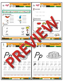 Kindergarten Phonics and Spelling D'Nealian Week 9 (P) {TEKS-aligned}