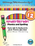 Kindergarten Phonics and Spelling Zaner-Bloser Week 12 (N)
